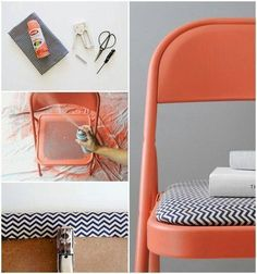 upcycling a folding chair