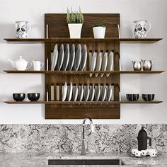 Employ a light touch with kitchen storage
