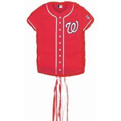 Washington Nationals Baseball - Shirt Shaped Pull-String Pinata Party Accessory:Amazon:Clothing