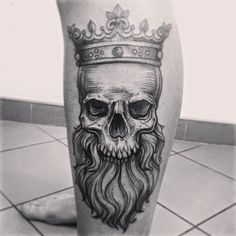 king-skull-tattoo