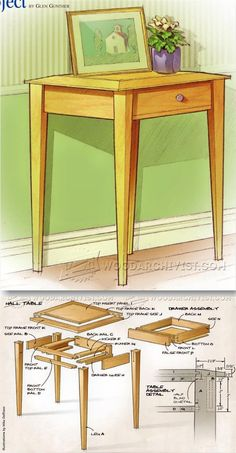 Accent Table Plans - Furniture Plans and Projects | WoodArchivist.com