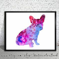 French Bulldog 3 Watercolor Print
