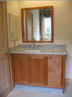 Shaker Styled Cherry Bathroom Vanity  Home Ideas  Pinterest Unique Cherry Bathroom Vanity Review
