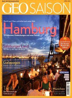 Hamburg - 55 Adressen, Entdeckungen und neue Touren. #Cover #MagazineCover Gefunden in: Geo Saison, Nr. 4/2016