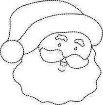 santa face for crafts - Google Search