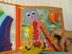 Quiet book Развивающая книжка с заданиями для детей от 6 мес до 3 лет - YouTube