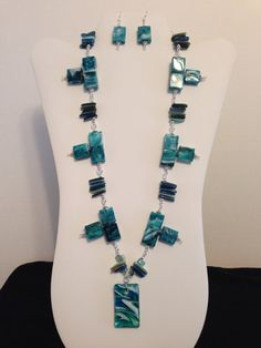 Necklace Made with Groups of Shell Daggers by JewelryWorksbyCarol, $25.00