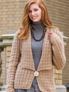 Taking the Plunge crochet cardigan