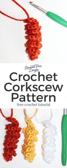 Corkscrew Crochet Hair Pretty ⋆ Rescued Paw Designs Crochet