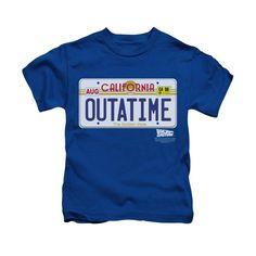 Back To The Future - Outatime Plate Kids T-Shirt
