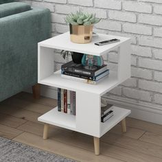H Living room modern coffee table solid wood leg storage table floating window mini talk tea table bedroom bedside table Side Table With Storage, Sofa Side Table, Table Storage, Tv Tables, Storage Rack, Tea Table Design, Wood Table Design, Table Designs, Living Room End Tables