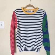American Apparel Sweaters - American Apparel Recycled Mixed Stripe Pullover
