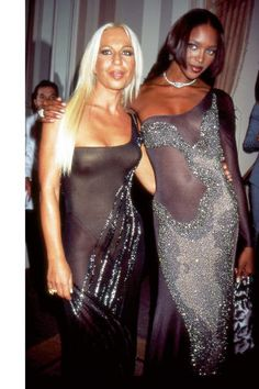 A look inside the pages of the newest must-have fashion coffee table book. Donatella Versace and Naomi Campbell, 1996.