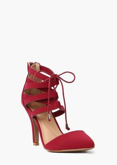 Necessary Clothing lace up pump