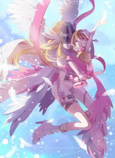 Discovered by D-Linku Animes. Find images and videos about anime, digimon and angewomon on We Heart It - the app to get lost in what you love. Moe Anime, Anime Kawaii, Manga Anime, Anime Art, Digimon 02, Vocaloid, Digimon Adventure Tri., Digimon Digital Monsters, Animation