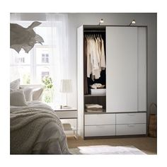 TRYSIL Garderob med skjutdörrar/4 lådor  - IKEA