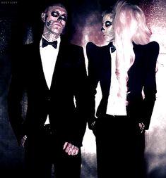 Rick Genest & Lady Gaga