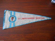 MEXICO 68 OLYMPIC GAMES pennant ARGENTINA PELOTA VASCA TEAM signed pennant   eBay