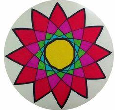 Mandala em canetinha