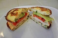 Savory Ricotta Pancakes - Low Carb Breadless Sandwich Recipe