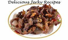 Deer Jerky Recipe, Venison Jerky Recipe, Jerky Marinade, Teriyaki Beef Jerky, Jerky Recipes, Bbq Beef, Beef Recipes, Smoked Hamburgers, Oven Jerky