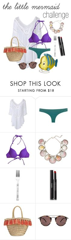 """""""beach/ the little mermaid challenge"""" by beautytime101 ❤ liked on Polyvore featuring IPANEMA, Reef, Paolo Costagli, Lexington, Chanel, Danielle Nicole, Flora Bella and Oliver Peoples"""