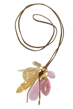 Pink + Charm Necklace for the Summer!
