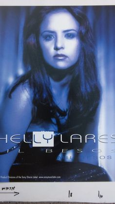 """SHELLY LARES, """"MIL BESOS"""", promo poster flat, nm"""