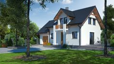 DOM.PL™ - Projekt domu DP gródek 7 CE - DOM PK3-97 - gotowy projekt domu