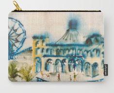Santa Monica Pier Carry-All Pouch by laurimatisse Matisse, Santa Monica, Carousel, Coin Purse, Pouch, Fun, Stuff To Buy, Decor, Fashion