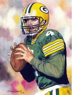 John Giancaspro painting of Brett Favre, Packers