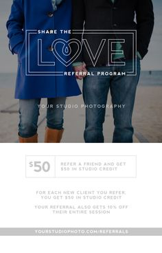 Photographer Digital Marketing Template for Client Referrals #photography #marketing
