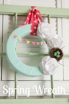 Spring Mantle Decor | via @Linda {Craftaholics Anonymous®}