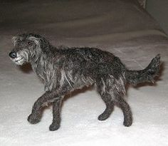 NEEDLE FELTED DOG~SCOTTISH DEERHOUND~in Memory of Finn~Custom Sculptures by GOURMET FELTED | Flickr - Photo Sharing!