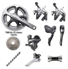 Shimano 7950 Dura Ace 10 Speed Compact Groupset 34/50T from the Shimano Road - Groupset range at J E James Cycles. Visit us @ https://www.wocycling.com/ for the best online cycling store.