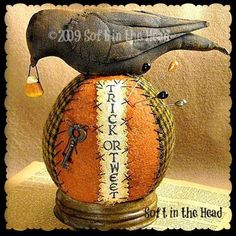 Your place to buy and sell all things handmade Little Black Bird, Primitive Stitchery, Halloween Doll, Ink Stamps, Jar Lids, Vintage Sewing Patterns, Pin Cushions, Sewing Hacks, Halloween Decorations