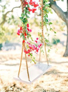 Heavenly Wedding Inspiration with a Floral Swing photography by Avec L'Amour Photography and Delighted Images Boho Wedding Decorations, Reception Decorations, Spring Decorations, Floral Wedding, Rustic Wedding, Wedding Dress, Wedding Swing, Dream Wedding, Swing Photography