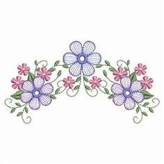 Sweet Heirloom Embroidery Design Pack: Rippled Elegant Flowers