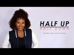 Half Up Half Down Styling Tutorial on Natural Hair | etcblogmag - YouTube