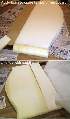 3 DIY Fabric Headboard, Handmade, Bed post, Reupolstery, Reupoltered