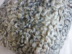genuine persian lamb fur pillows gray grey ivory by