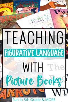 This post is all about introducing, teaching and reviewing figurative language with picture books! Figurative language can be a hard concept to grasp sometimes! These figurative language activities include a flipbook, songs, games and of course picture books! Great to plan your lesson plans for teaching figurative language as this post breaks down the best way to teach it!