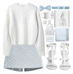 """""""Baby Blue"""" by sparkling-oceans ❤ liked on Polyvore featuring Theyskens' Theory, Kenzo, Ben's Garden, Acne Studios, Lalique, Lord & Berry, McCoy Design and Forever 21"""