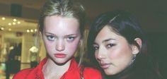 Gemma Ward and Jessica Gomes