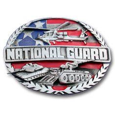 "Checkout our #LicensedGear products FREE SHIPPING + 10% OFF Coupon Code ""Official"" National Guard Enameled Belt Buckle - Officially licensed Military, Patriotic & Firefighter product Fully cast, metal buckle Bail fits belts up to 2 inches wide Exceptional detail with an enameled finish  - Price: $21.00. Buy now at https://officiallylicensedgear.com/national-guard-enameled-belt-buckle-s92e"