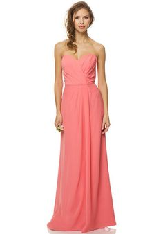 Sweetheart neckline with slight pleating at the bodice and an a-line skirt