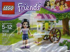 LEGO FRIENDS Set 30106 EMMA's ICE CREAM Cart Stand Mini Figure NEW