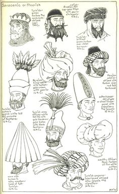 Chapter 6 - Saracenic or Moorish - The Turban - Plate 1/3