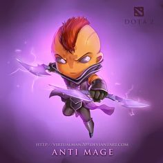 Dota 2 Chibi Wallpaper for Desktop Antimage
