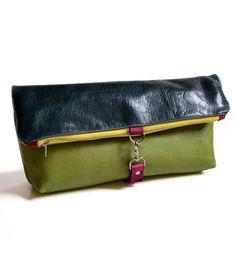 Lulu Leather Travel Clutch